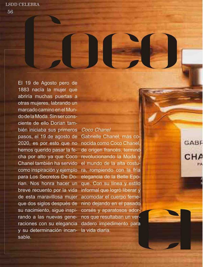 Coco Chanel Revista LSDD Digital Edición Septiembre 2021